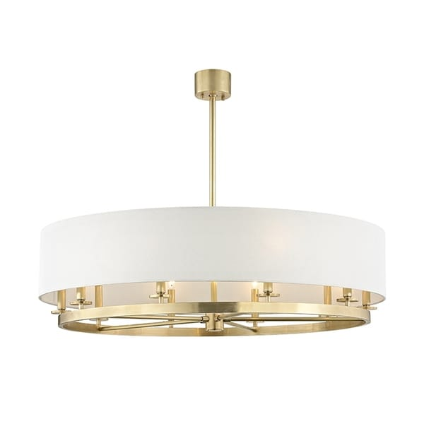 Hudson Valley Durham 10-light Aged Brass Pendant
