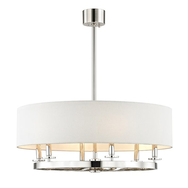 Hudson Valley Durham 6-light Polished Nickel Pendant