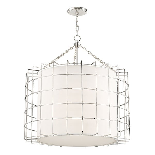 Hudson Valley Sovereign 4-light Polished Nickel Pendant