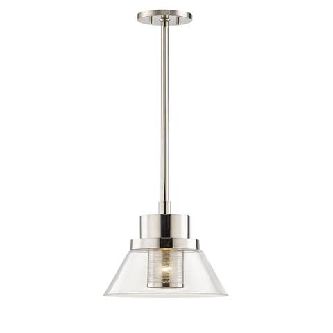 Hudson Valley Paoli 1-light Polished Nickel Small Pendant