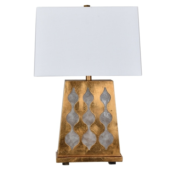 Ravello Gold Leaf and Ivory 28-inch Table Lamp
