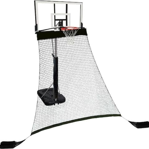 Rebounder Basketball Return System for Shooting Practice with Heavy Duty Black Polyester Net - 10'L x 5'W x 9'H