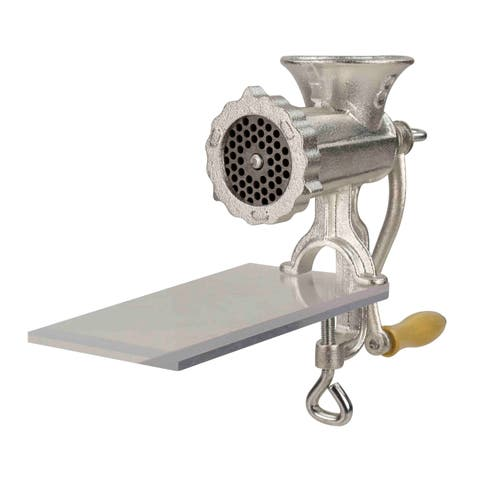 Home Basics Silver Cast Iron Meat Grinder