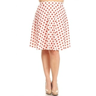Women's Plus Size Polka Dot Skirt