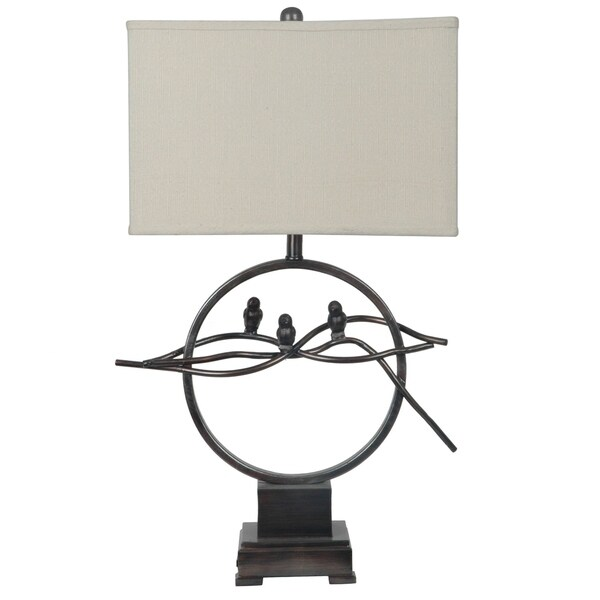 Song Bird Bronze 30.5-inch Table Lamp