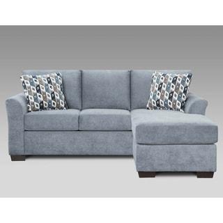 Sofa Trendz Cambridge Blue/Grey Fabric Queen Sleeper