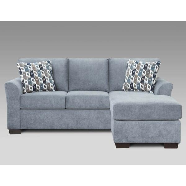Shop Sofa Trendz Cambridge Blue/Grey Queen Sleeper