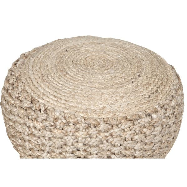 Pleasing Shop Lr Home Basket Weave Hemp Natural Jute Pouf Ottoman Pdpeps Interior Chair Design Pdpepsorg