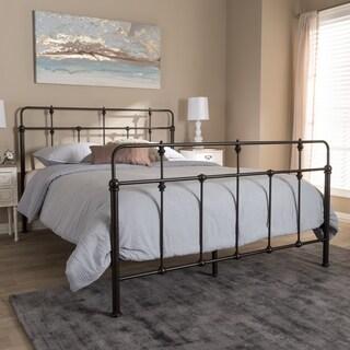Vintage Industrial Black Finished Metal Platform Bed by Baxton Studio