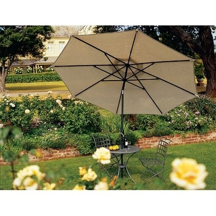 Coolaroo Market Umbrella 11' Round Smoke