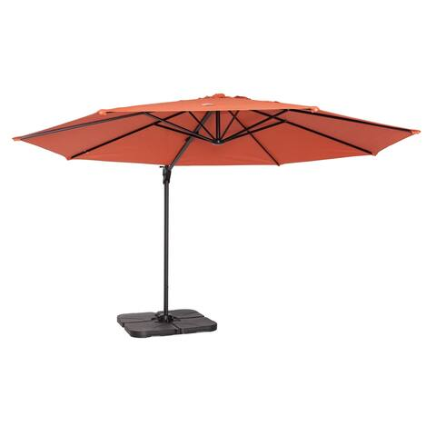 Coolaroo 12' Cantilever Umbrella Terracotta