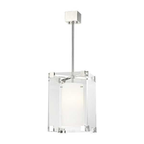 Hudson Valley Achilles 1-light Polished Nickel Small Pendant