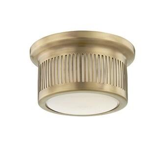 Hudson Valley Bangor 1-light ADA Aged Brass LED Flush Mount