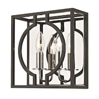 Hudson Valley Octavio 2-light ADA Aged Iron and Polished Nickel Wall Sconce