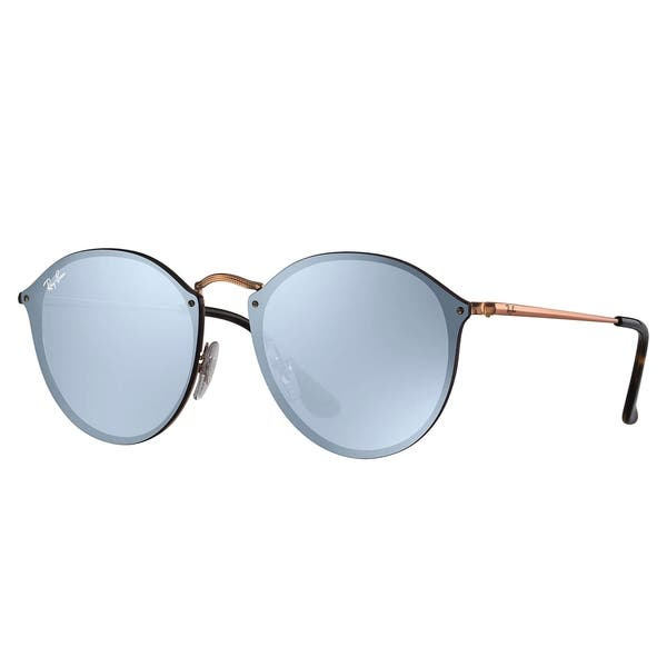 a4e22af19609 Ray-Ban RB3574N Blaze Round Sunglasses Bronze & Copper/ Violet Mirror 59mm