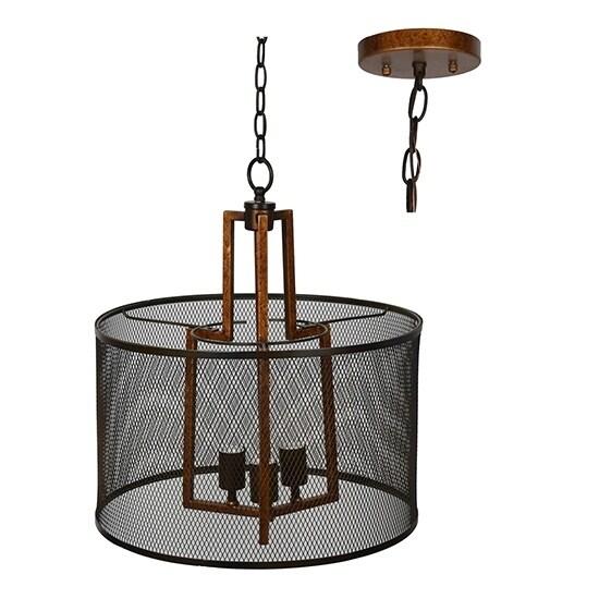 Winchester Copper and Iron 20.5-inch Pendant