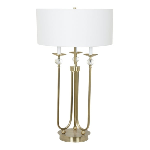 Saunders Soft Brass 36-inch Table Lamp
