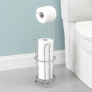 Home Basics Chrome Plated Steel Toilet Paper Holder