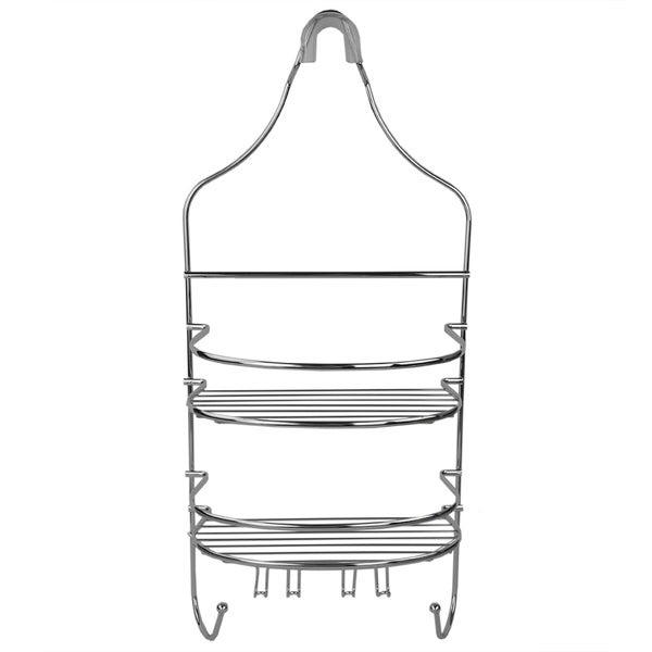 Home Basics Chrome Plated Steel Flat Wire Shower Caddy