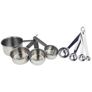 Home Basics 8-piece Stainless Steel Measuring Cup Set