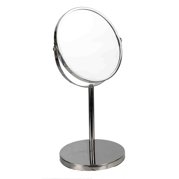 Home Basics Chrome Plated Steel Cosmetic Mirror