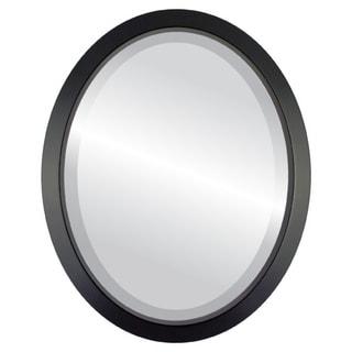 Regatta Framed Oval Mirror in Matte Black