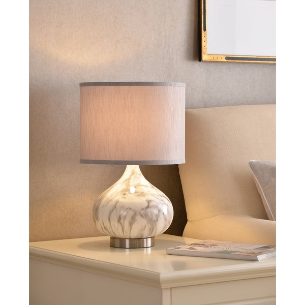 """Tristan 18.5"""" Accent Lamp - Marble Textured Glass"""