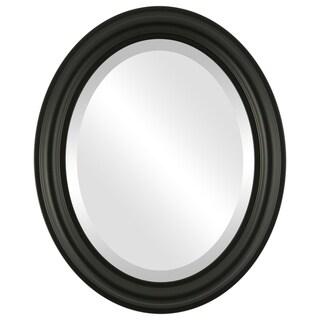 Philadelphia Framed Oval Mirror in Matte Black