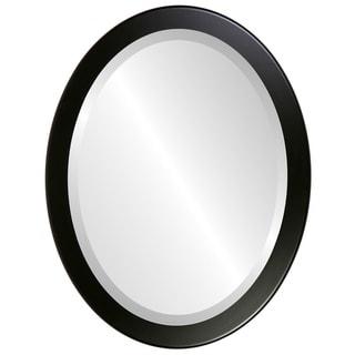 Vienna Framed Oval Mirror in Matte Black