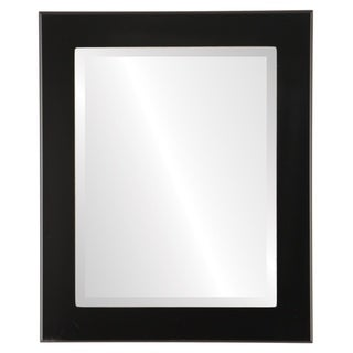 Avenue Framed Rectangle Mirror in Matte Black