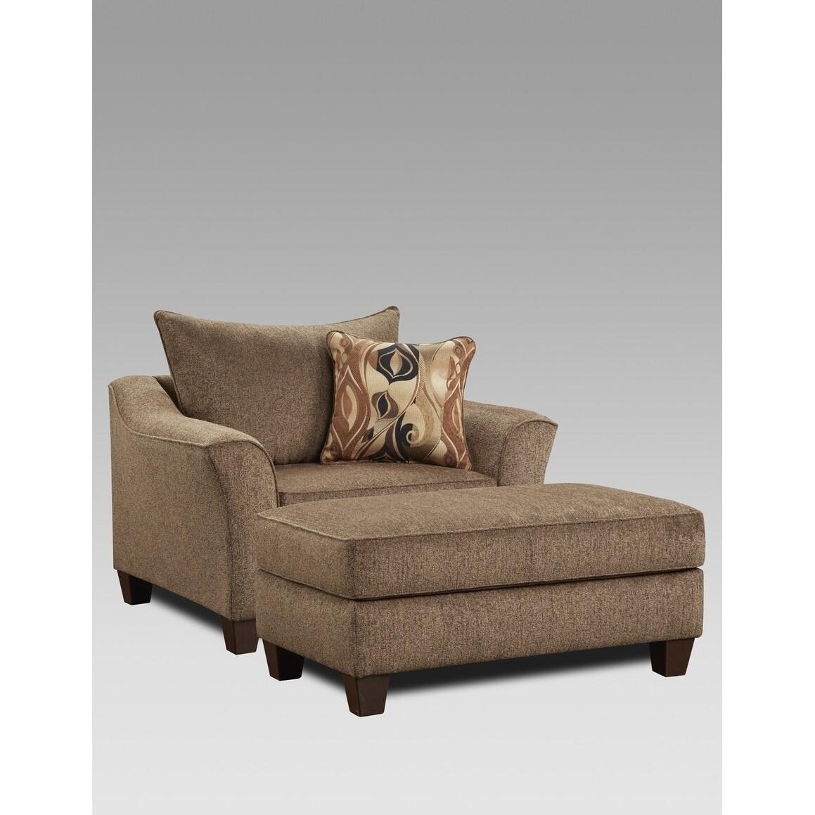 Awe Inspiring Sofa Trendz Cole Cafe Brown Chair 1 2 Ottoman 2 Pc Set Pabps2019 Chair Design Images Pabps2019Com