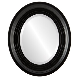 Imperial Framed Oval Mirror in Matte Black (More options available)