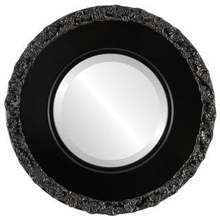 Williamsburg Framed Round Mirror in Matte Black
