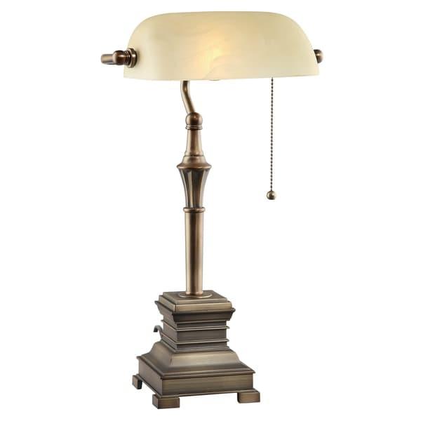 Malone Antique Bronze 19-inch Desk Lamp