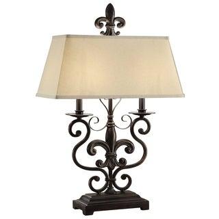 Le Fleur De Bronze 30-inch Table Lamp