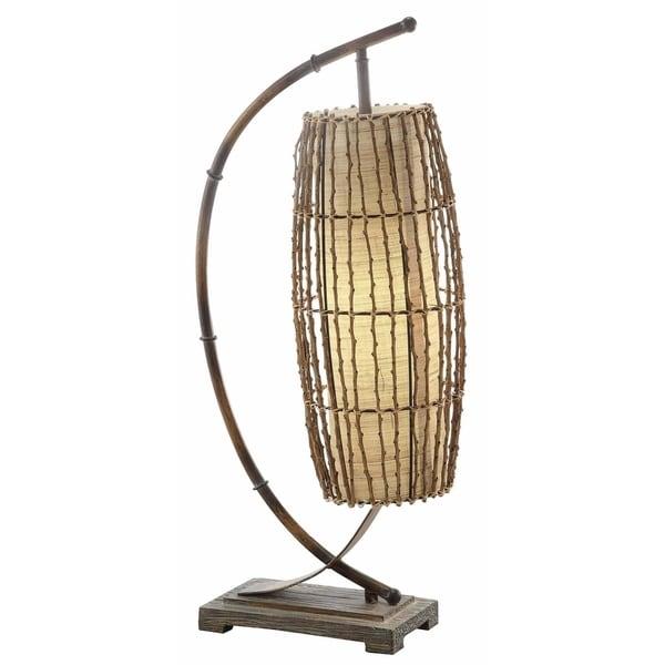 Baja Bamboo Tropics 30-inch Downbridge Lamp