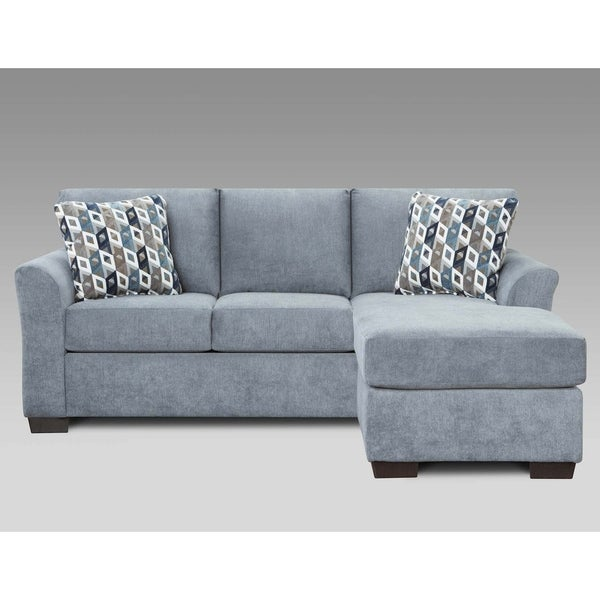 Shop Sofa Trendz Cambridge Blue/Grey Sofa Chaise - Free Shipping ...