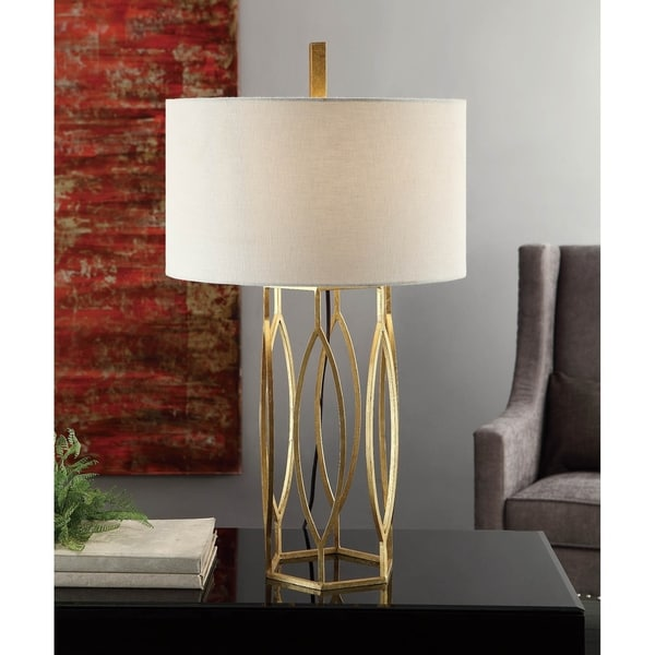 Global Gold Leaf 32-inch Table Lamp