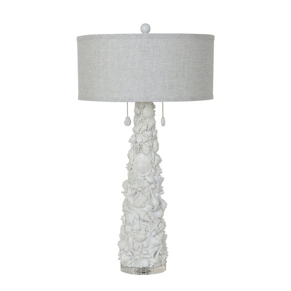 Caicos White Shell 35-inch Table Lamp