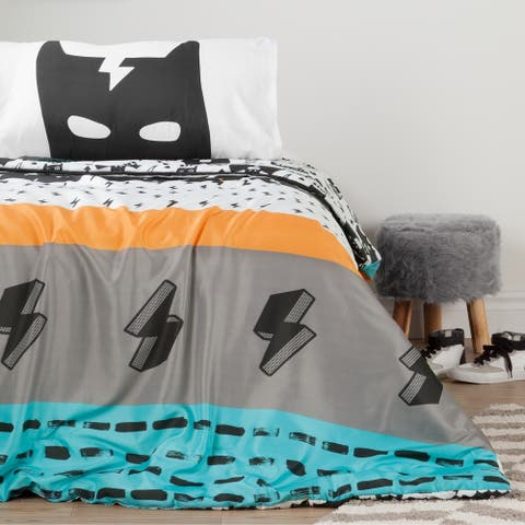 South Shore Superheroes Reversible Full Comforter and Pillowcases