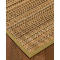 NaturalAreaRugs Boardwalk Sisal Area Rug Hand-Woven Khaki Border (9' x 12')