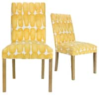 Shop Skyline Furniture Tufted Hourglass Dining Chair In