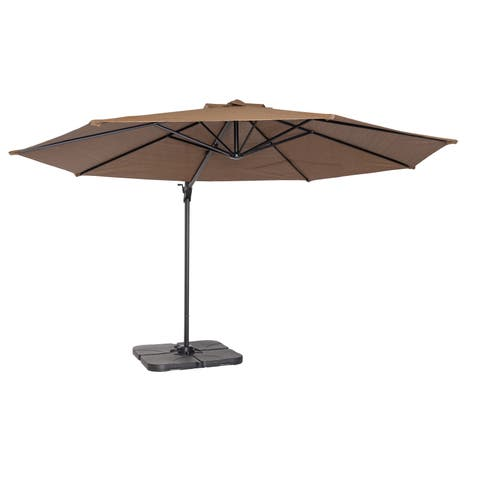 Coolaroo 12' Cantilever Umbrella Mocha
