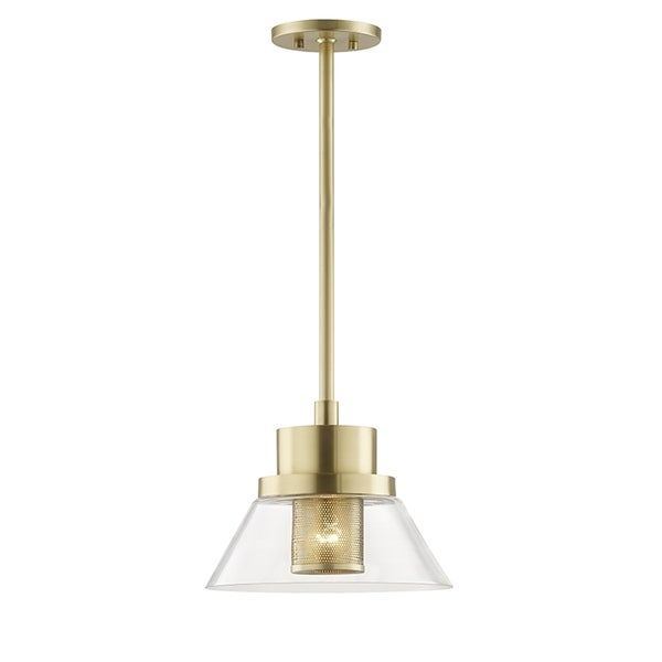 Hudson Valley Paoli 1-light Aged Brass Small Pendant
