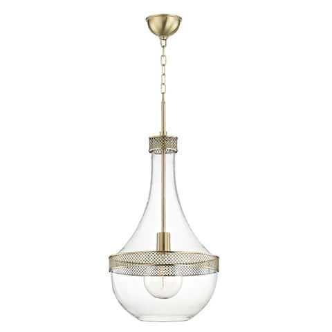 Hudson Valley Hagen 1-light Aged Brass Large Pendant
