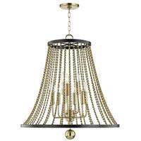 Hudson Valley Spool 9-light Aged Brass Chandelier