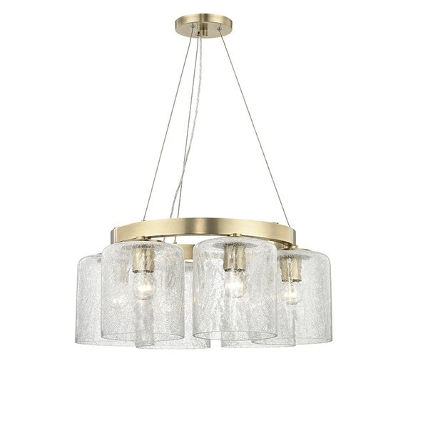 Hudson Valley Charles 6-light Aged Brass Chandelier