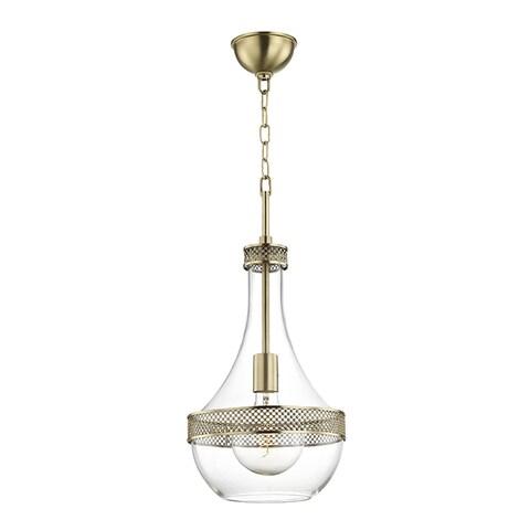 Hudson Valley Hagen 1-light Aged Brass Small Pendant