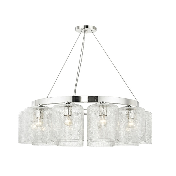 Hudson Valley Charles 10-light Polished Nickel Chandelier