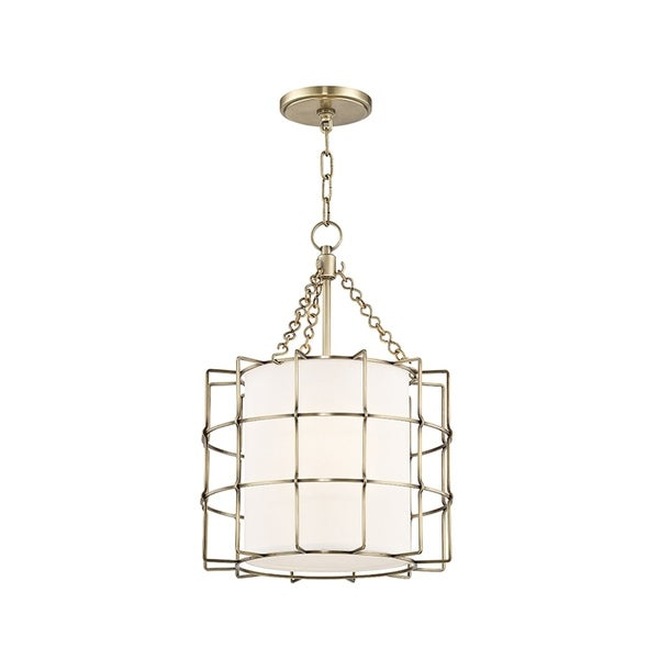 Hudson Valley Sovereign 2-light Aged Brass Pendant
